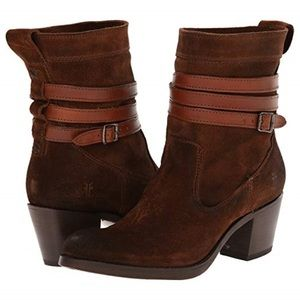 Jane Strappy Short Boot from Frye